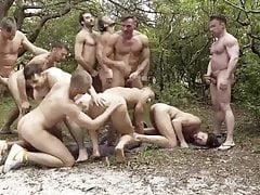 bare groupfuck in nature