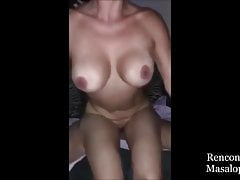 Husband records his wife sucking stranger's dick and swallowing