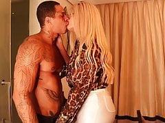 Beautiful tranny kissing and fucking