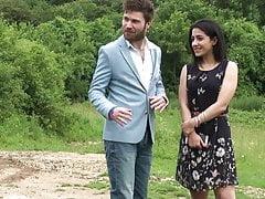 French Doryann has outdoor sex