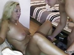 German Amateur MILF Teaches Guy How to Fuck right