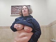 Stephanie DeWolfe getting her wet puss off at work